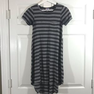 LulaRoe Carley XXS Grey striped